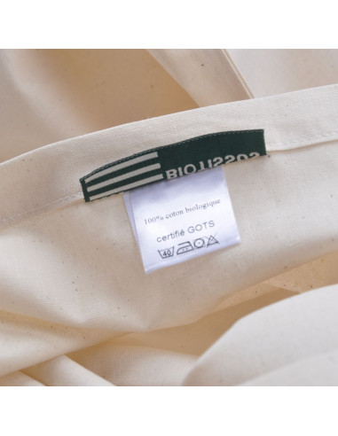 Lot 2 taies coton bio made in France