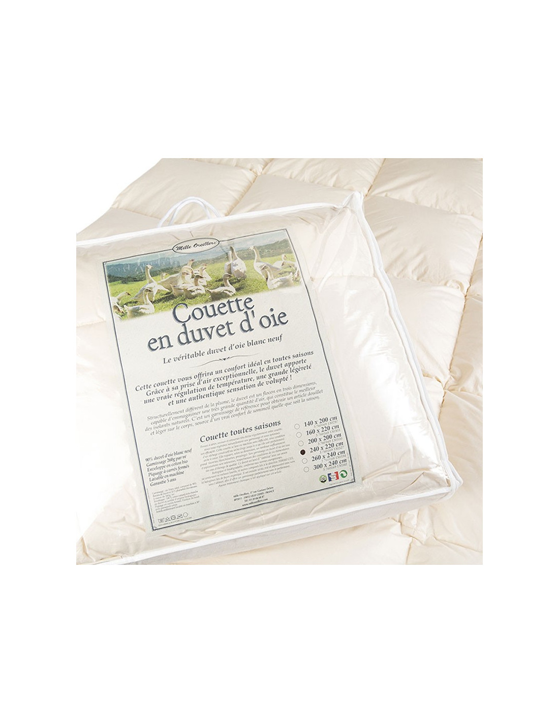 Couette hiver en 90% duvet - Made in France