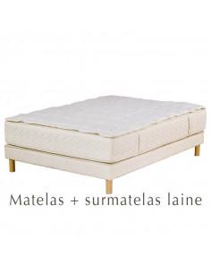 Matelas Palace : matelas Louise prestige + surmatelas Haryana 1000 g/m2