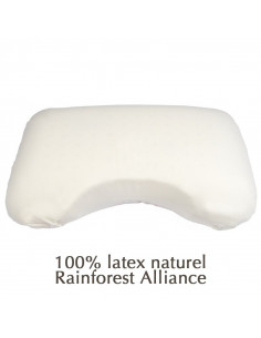 Oreiller ergonomique latex naturel Rainforest Alliance