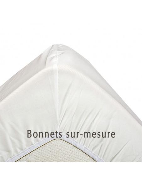 Drap housse percale coton bio sur-mesure