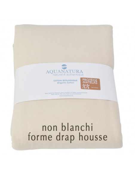 Protège matelas en coton bio Aquanatura