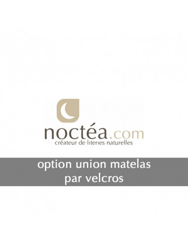 Option jumelage matelas par Velcros