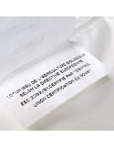 étiquette coton bio couette en fibres recyclées et coton bio