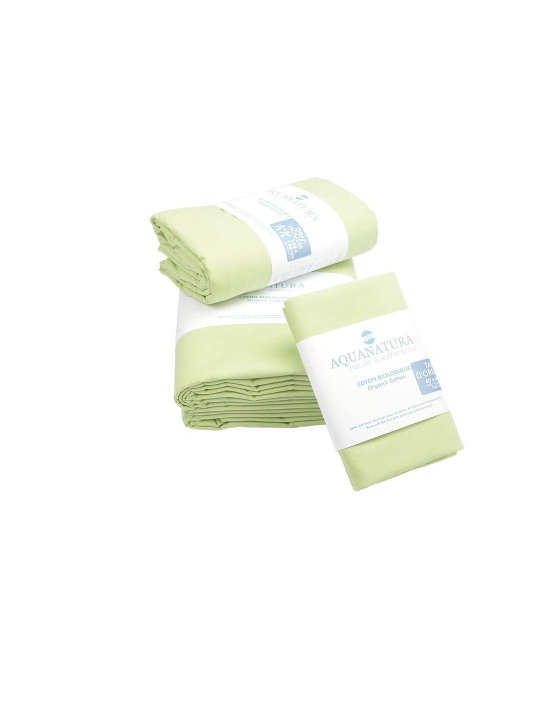 parure de draps coton bio naturel noctea. Black Bedroom Furniture Sets. Home Design Ideas