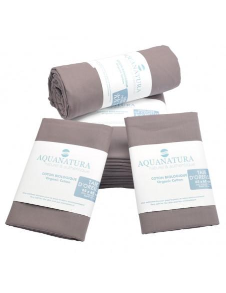Parure de draps - coton bio - cassis