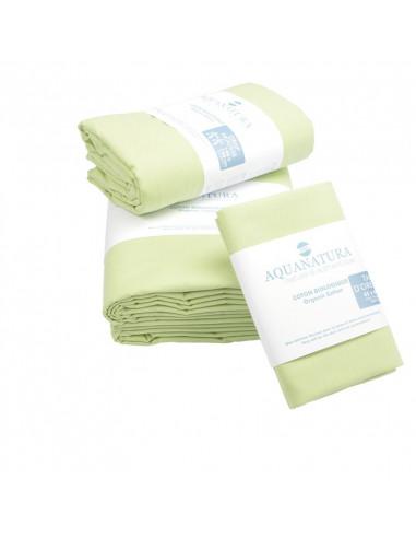 Parure de draps en coton bio aquanatura vert