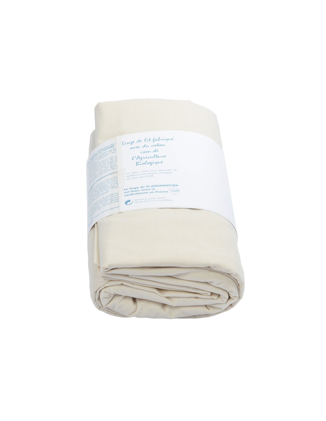 drap housse coton bio naturel noctea