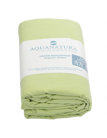 Drap housse - coton bio - vert
