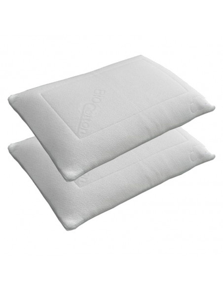Lot 2 oreillers ELHA latex été/hiver