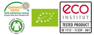 les certifications des matières utilisées dans les literies Noctéa