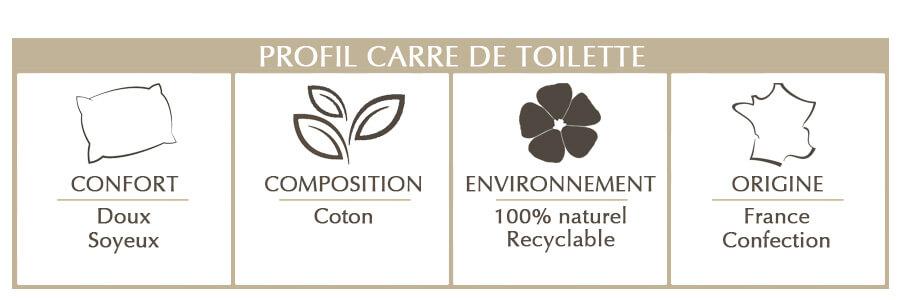 carré de toilette en coton bio
