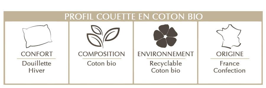 couette en coton bio