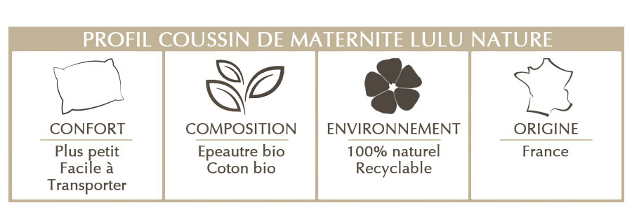 coussin de maternité en épeautre bio