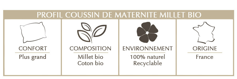 coussin de maternité en millet bio