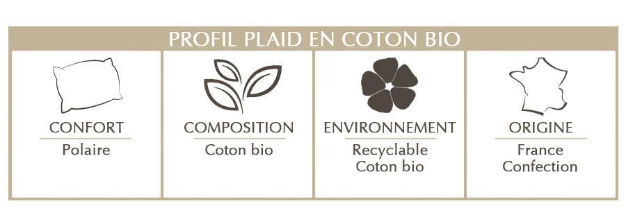 plaid en coton bio