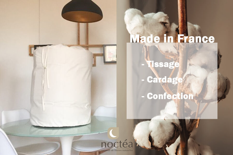 couette en coton bio made in France