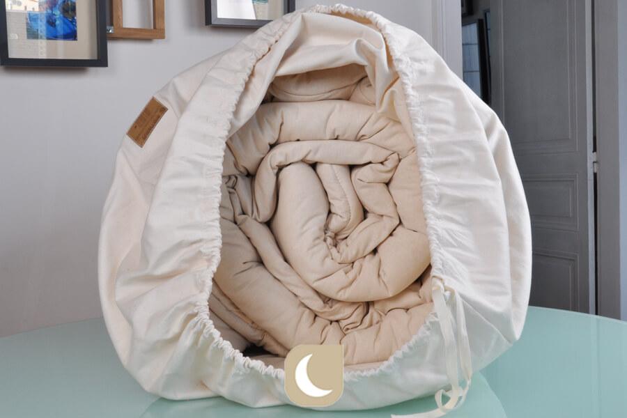 Vue de le couette en hiver en coton bio