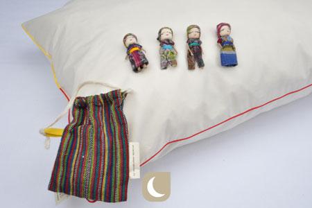Poupées anti-tracas avec oreiller enfant en laine Mille Oreillers